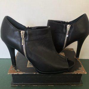 Style & Co Black Leather Platform Stilettos